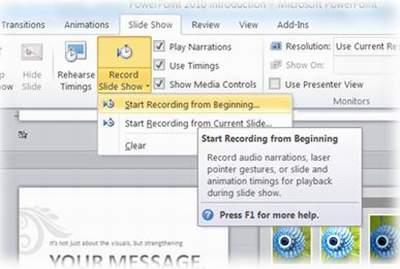 Tuyệt chiêu trình diễn trong PowerPoint 2010