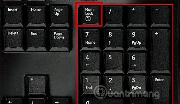 Kích hoạt bàn phím số