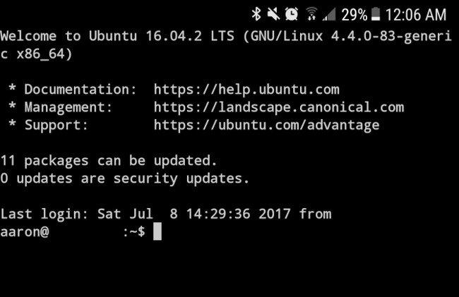 Dòng lệnh Linux trên Android