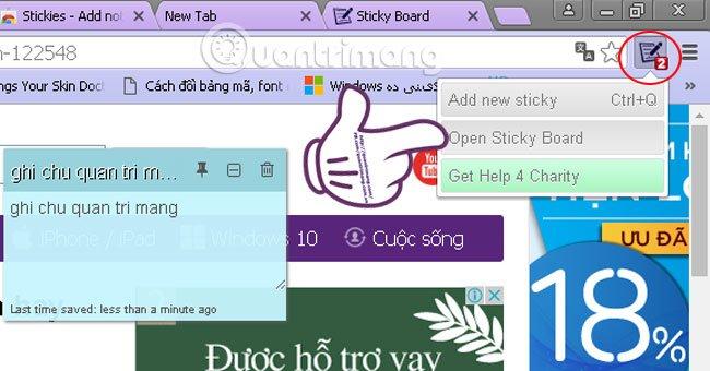 Cách tạo ghi chú trên Google Chrome không cần phần mềm