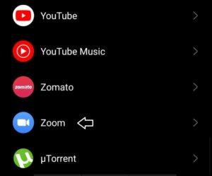 Nhấp vào ứng dụng Zoom